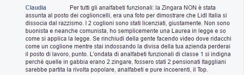 Commento Claudia