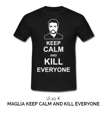 Maglia keep calm and kill everyone