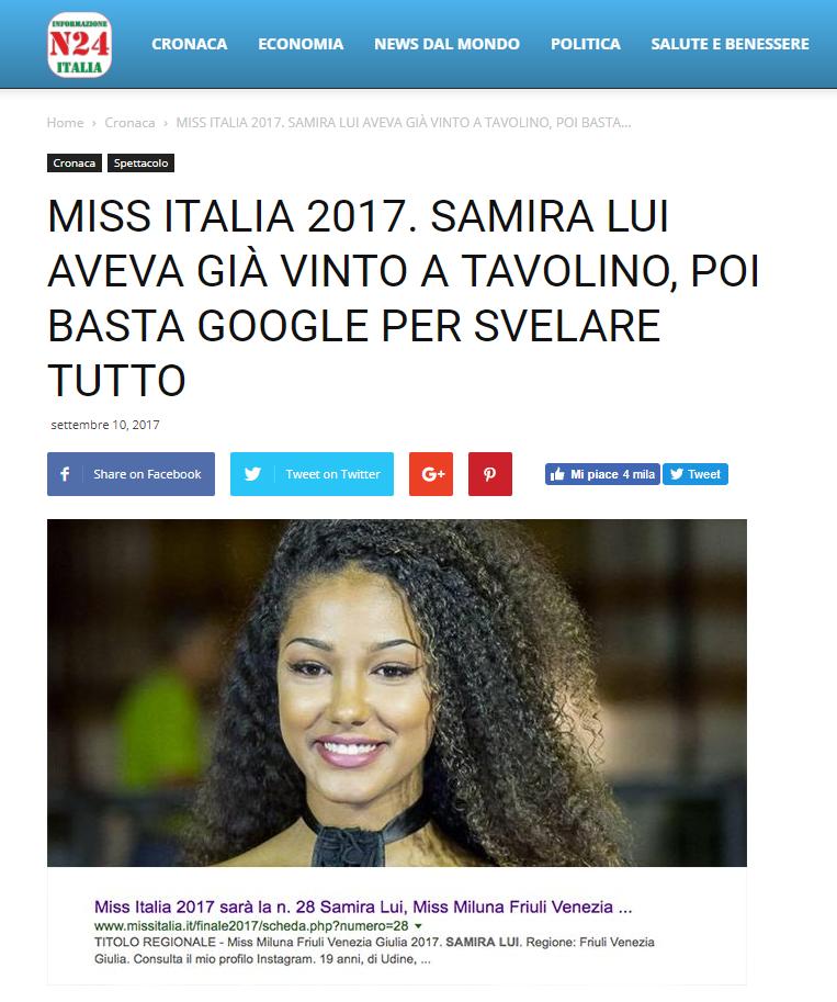 Miss Italia 2017 Informazione Italia
