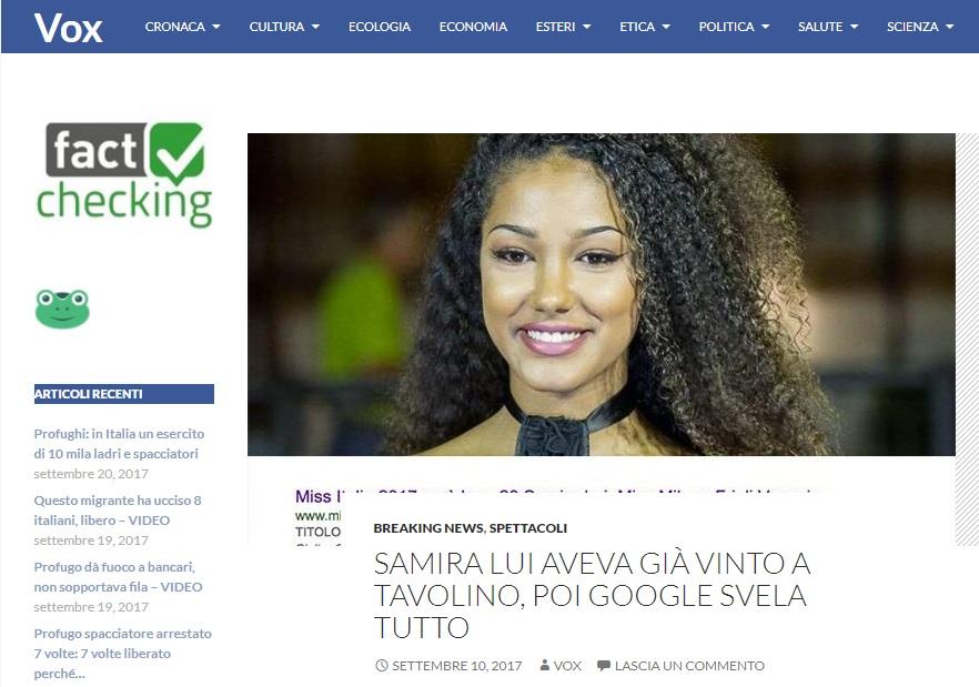 Vox News Miss Italia 2017